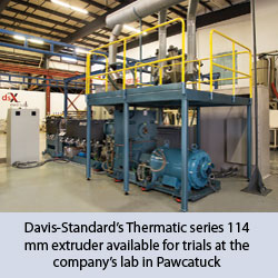 Davis-Standard's Thermatic series 114 mm extruder