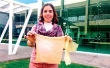 Prof Sandra Pascoe Ortiz has created a bioplastic