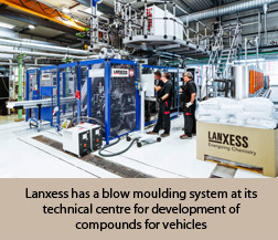 Lanxess has a blow moulding system