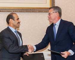 President and CEO Mark Lashier and Saad Sherida Al-Kaabi