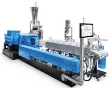 Coperion extruder used in production of biomaterialn