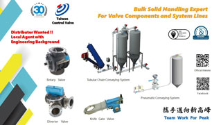 Taiwan Control Valve to present energy saving, high flexibility pneumatic conveying system trends at M'sia Plas