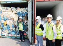plastic waste dumping