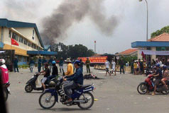 Rioters attack factories in Vietnam; Formosa affected
