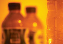 bottles - reveal presence of microscopic plastic particles