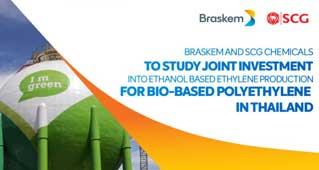 Braskem/SCG in bioPE plant feasibility study in Thailand