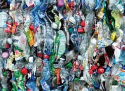 Majority of plastics are made from chemicals and nonrenewable resources